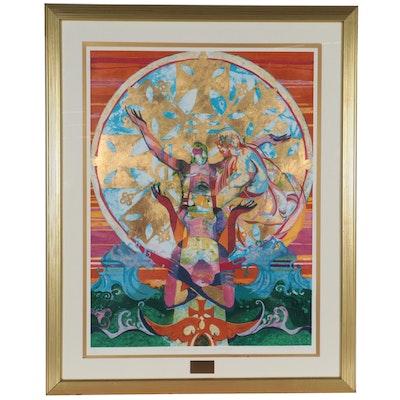 "Paul Goodnight Serigraph ""The Conversion of the Ethiopian Eunuch"""