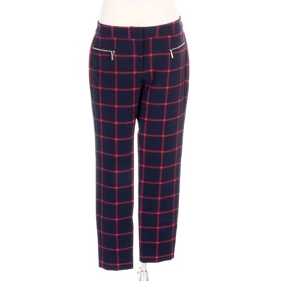 MICHAEL by Michael Kors Plaid Knitwear Pants