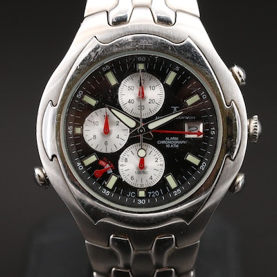 Jacques Cantani Chronograph Stainless Steel Wristwatch with Alarm
