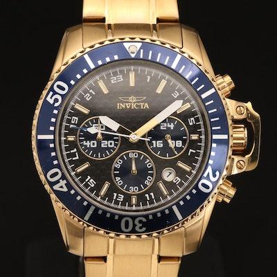 Invicta Pro Diver Chronograph Gold-Tone Quartz Wristwatch