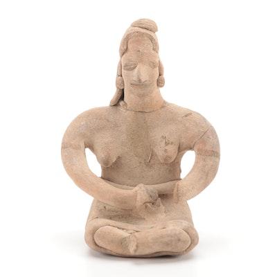 Colima Ceramic Maternity Figure, Pre-Columbian Mexico