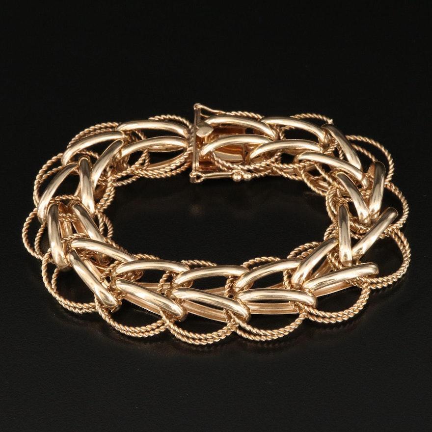 Vintage 14K Fancy Link Bracelet