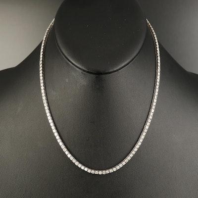14K 8.65 CTW Diamond Line Necklace