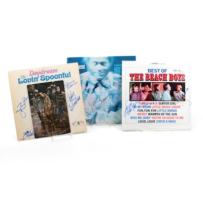 Chuck Berry, The Beach Boys and Other Autographed Records with COAs