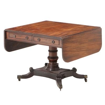 George IV Mahogany Sofa Table, Early 19th Century