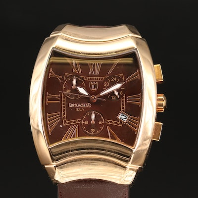 Lancaster Chronograph with Date Rose Gold-Tone Wristwatch