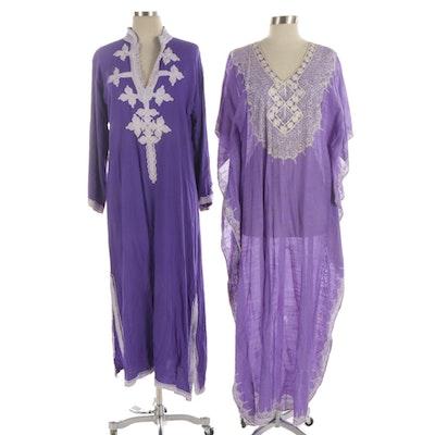 Moprima Purple Embroidered Kaftan Tunics