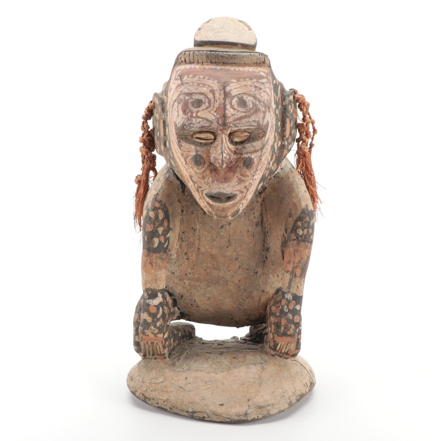 Iatmul Style Carved Wood Figure, Papua New Guinea
