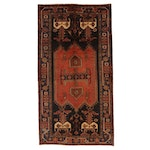 4'9 x 9' Hand-Knotted Northwest Persian Pictorial Rug, 1960s