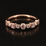 18K Rose Gold Diamond Band