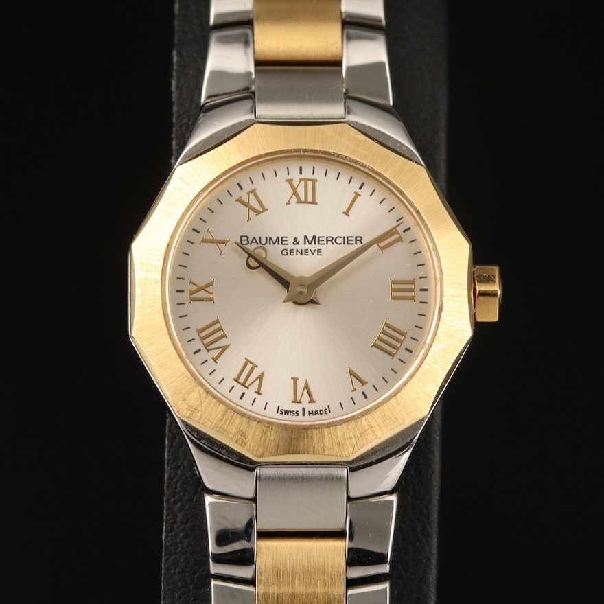 Baume & Mercier Riviera Two-Tone 18K and Stainless Steel Wristwatch