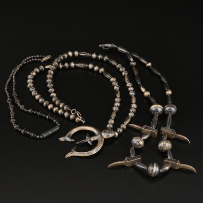 Southwestern Sterling Silver and 800 Silver Necklaces