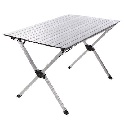 Slumberjack Stowaway Aluminum Portable Folding Table with Bag