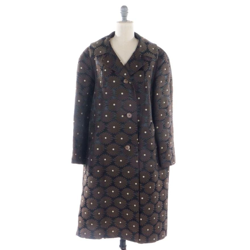Ooh Baby by Anika Ignozzi Paints Back Patch on Daisy Brocade Coat