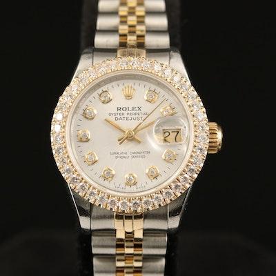 1986 Rolex Datejust 1.15 CTW Diamond Automatic Wristwatch