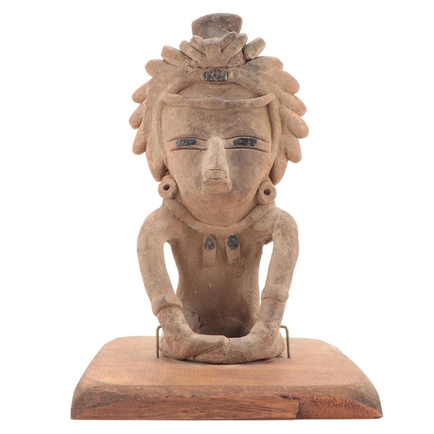Veracruz Ceramic Seated Figure, Pre-Columbian Mexico