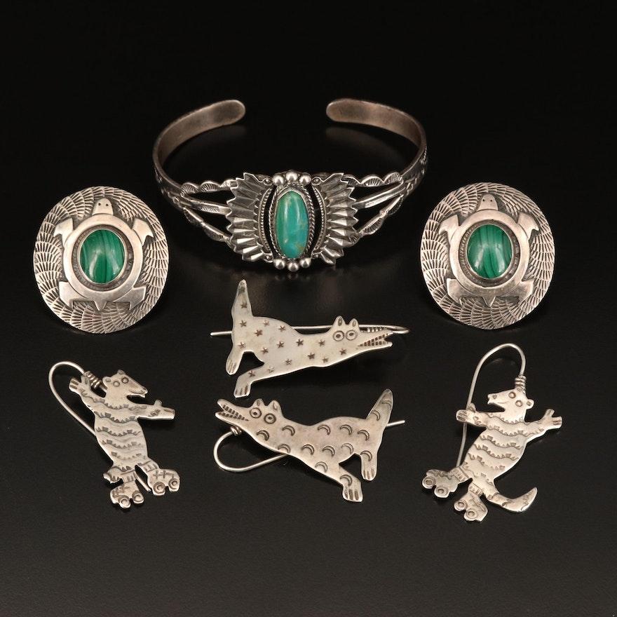 Southwestern Sterling Jewelry Including Richard Lindsey Earrings