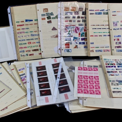 International Stamp Collection Including Singles, Sets Bocks and Souvenir Sheets