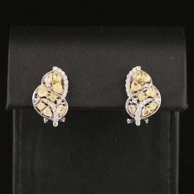 18K 2.43 CTW Diamond Earrings