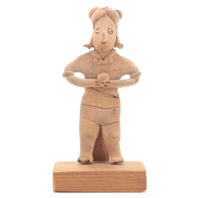 Toltec Style Ceramic Standing Figure, Pre-Columbian Mexico