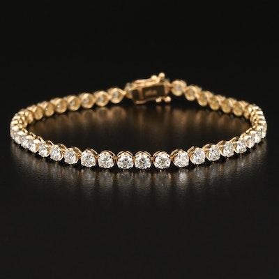 18K 6.12 CTW Diamond Line Bracelet