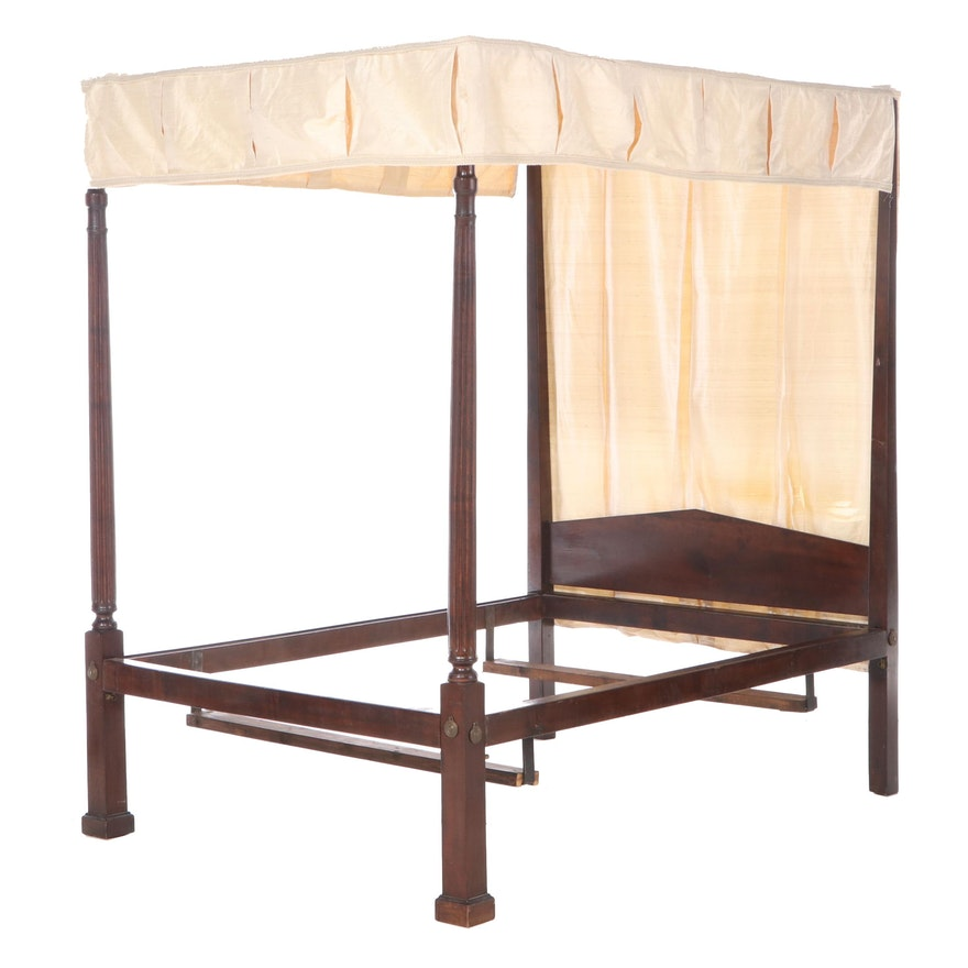 American Federal Birch Tester Bed Frame, Early 19th Century