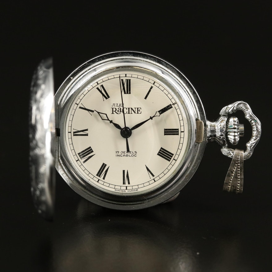 Jules Racine Hunting Case Pocket Watch