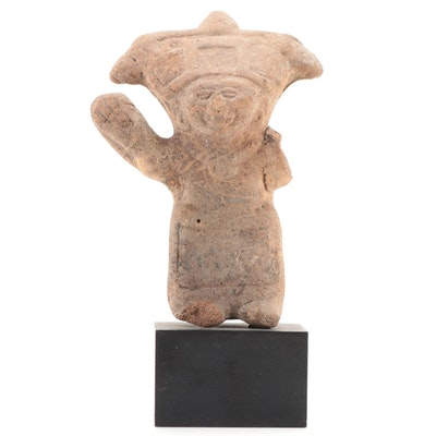 """Remojadas """"Sonriente"""" Figural Ceramic Whistle, Pre-Columbian Mexico"""