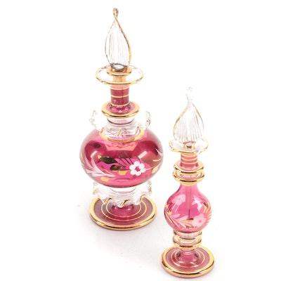 Egyptian Handblown Glass Perfume Bottles
