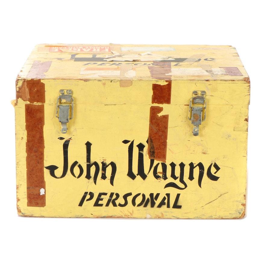 John Wayne's Personal Travel Trunk, Mid-20th Century, COAs