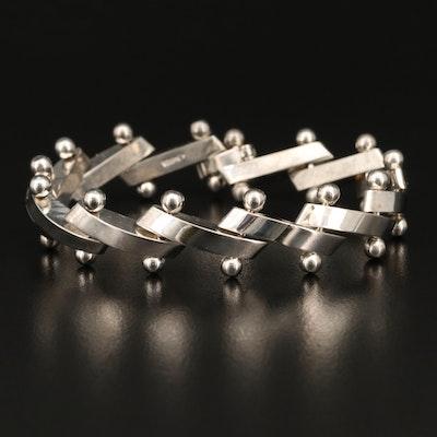 Mexican Modernist Sterling Silver Bracelet