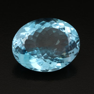 Loose 32.30 CT Oval Faceted Topaz
