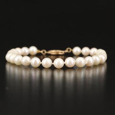 Pearl Bracelet with 14K Clasp
