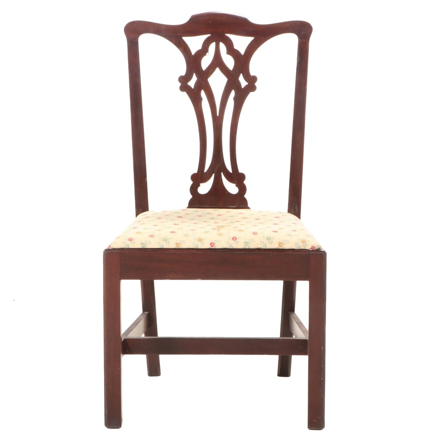 Chippendale Style Mahogany Side Chair, Early to Mid-20th Century