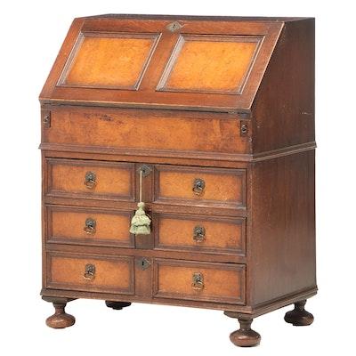 James II Style Oak Bureau Desk, Circa 1880