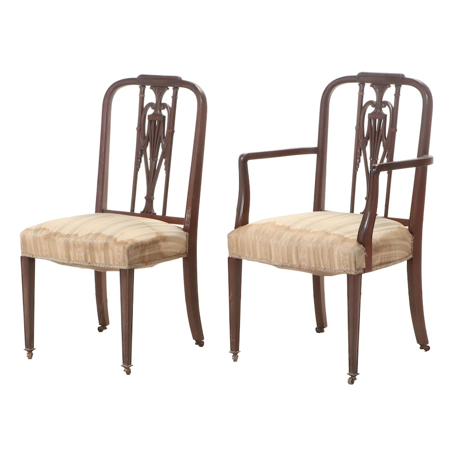 Centennial Hepplewhite Arm and Side Chair, Late 19th Century