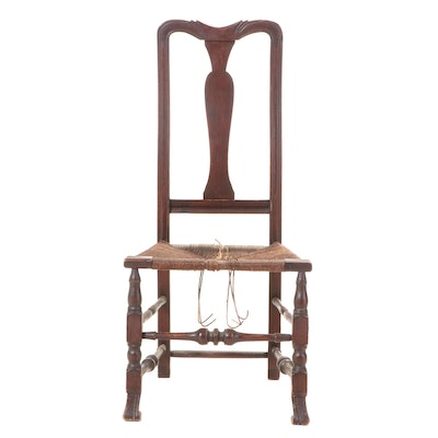 American Queen Anne Style Birch Side Chair, Early 20th Century