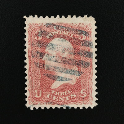 Washington Rose Pink 3-Cent Stamp, Scott #64b, 1861