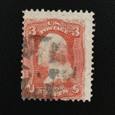 1867 Washington Rose 3-Cent Stamp, Scott #88