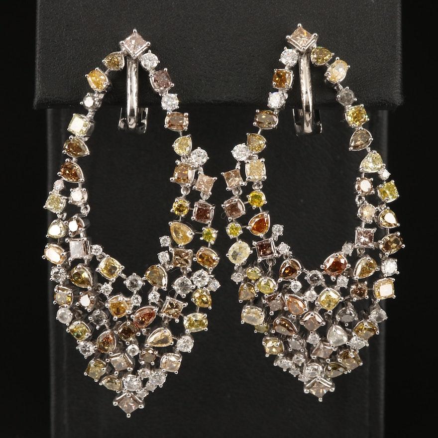 14K 15.78 CTW Diamond Earrings