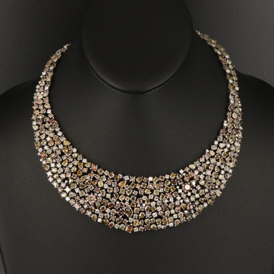 14K Tapered 69.71 CTW Diamond Necklace