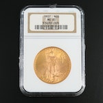 NGC Graded MS65 1927 Saint-Gaudens $20 Gold Double Eagle