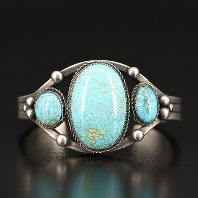 950 Silver Turquoise Cuff