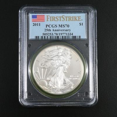 PCGS Graded MS70 2011 American Silver Eagle