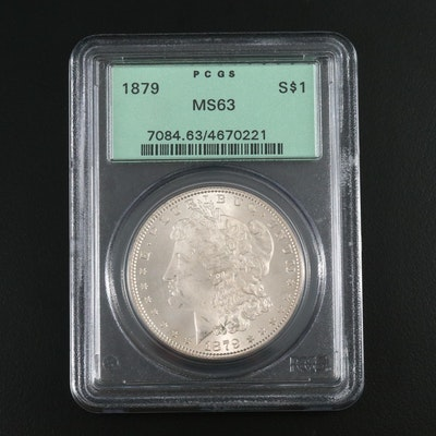 PCGS Graded MS63 1879 Morgan Silver Dollar
