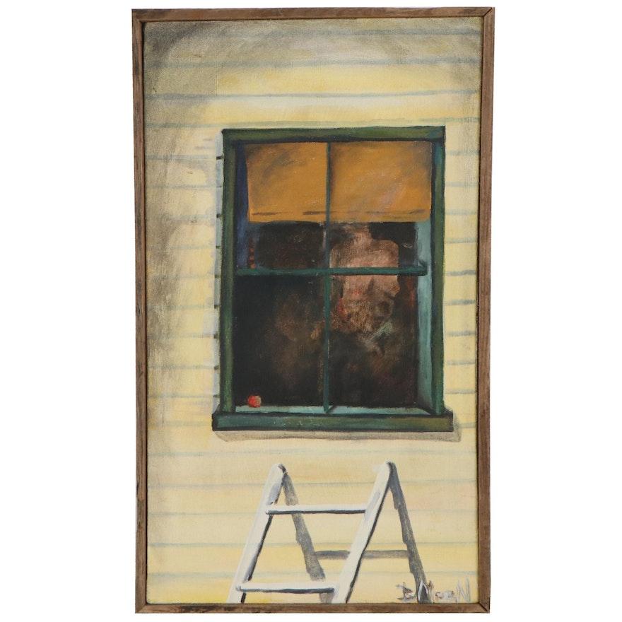 "Bruce Moon Acrylic Painting ""Mysteries"""