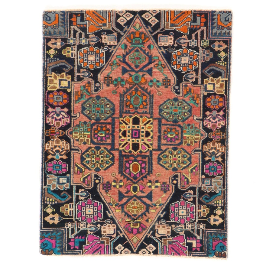 3'3 x 4'2 Hand-Knotted Persian Nahavand Accent Rug