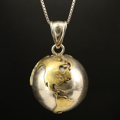 World Harmony Pendant on Sterling Necklace