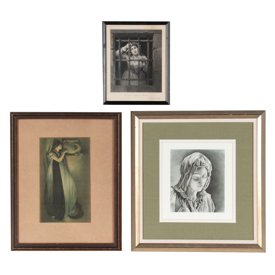 Figural Giclée and Offset Lithographs, Mid-Late 20th Century