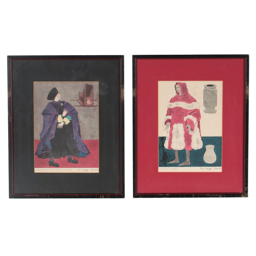 Offset Lithographs After Warja Honegger-Lavater, Late 20th Century